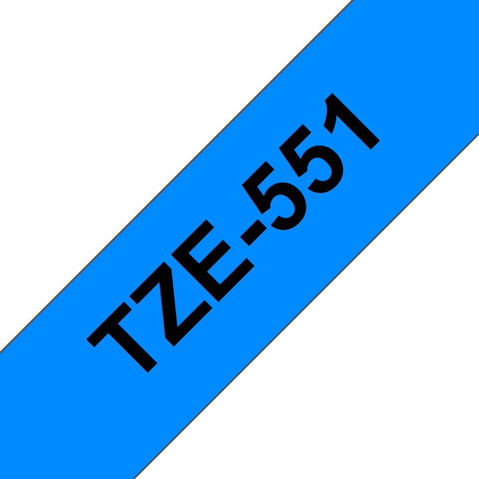 Genuine Brother TZe-551 Labelling Tape Cassette – Black on Blue, 24mm wide 3