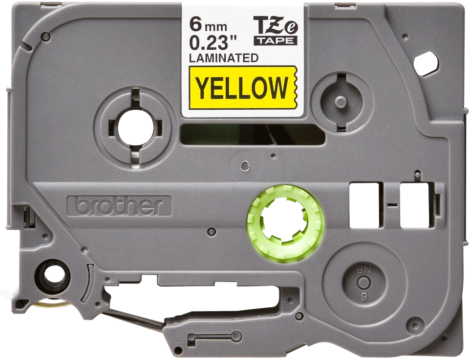 Genuine Brother TZe-611 Labelling Tape Cassette – Black on Yellow, 6mm wide 2