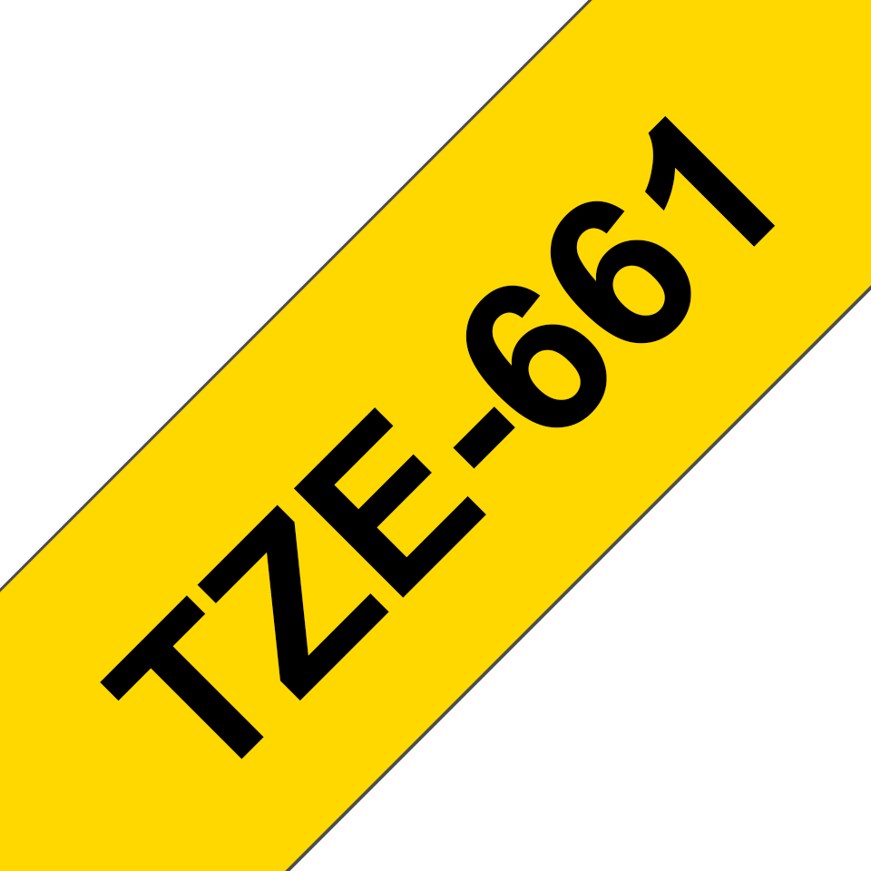 Genuine Brother TZe-661 Labelling Tape Cassette – Black on Yellow, 36mm wide 3
