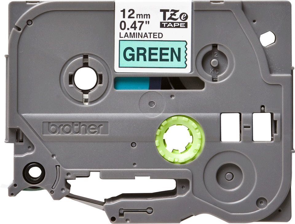 Genuine  Brother TZe-731 Labelling Tape Cassette – Black on Green, 12mm wide 0