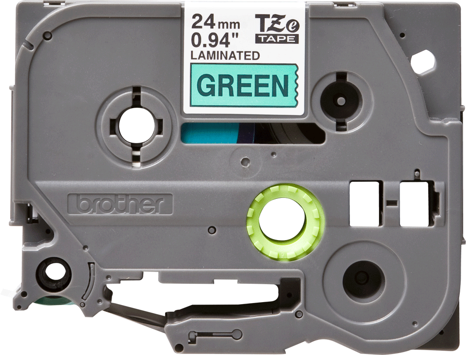 Genuine Brother TZe-751 Labelling Tape Cassette – Black on Green, 24mm wide 2