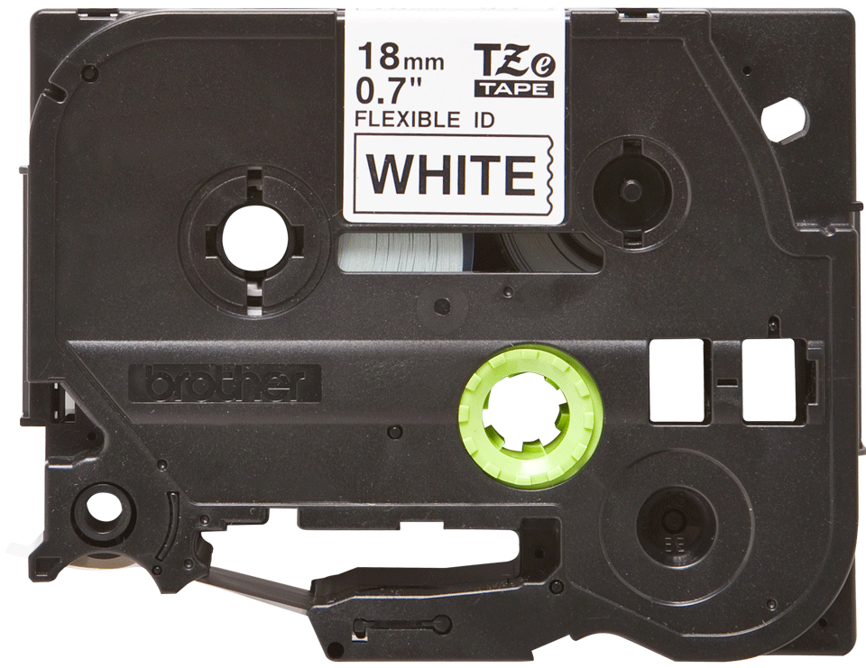 Genuine Brother TZe-FX241 Labelling Tape Cassette – Black on White Flexible-ID, 18mm wide