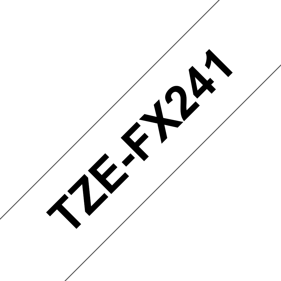 Genuine Brother TZe-FX241 Labelling Tape Cassette – Black on White Flexible-ID, 18mm wide 3