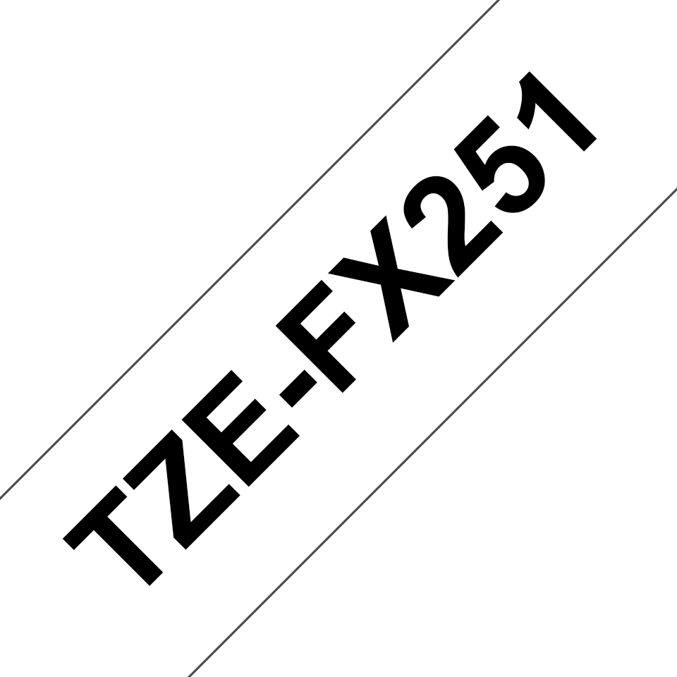 Genuine Brother TZe-FX251 Labelling Tape Cassette – Black on White Flexible-ID, 24mm wide 3