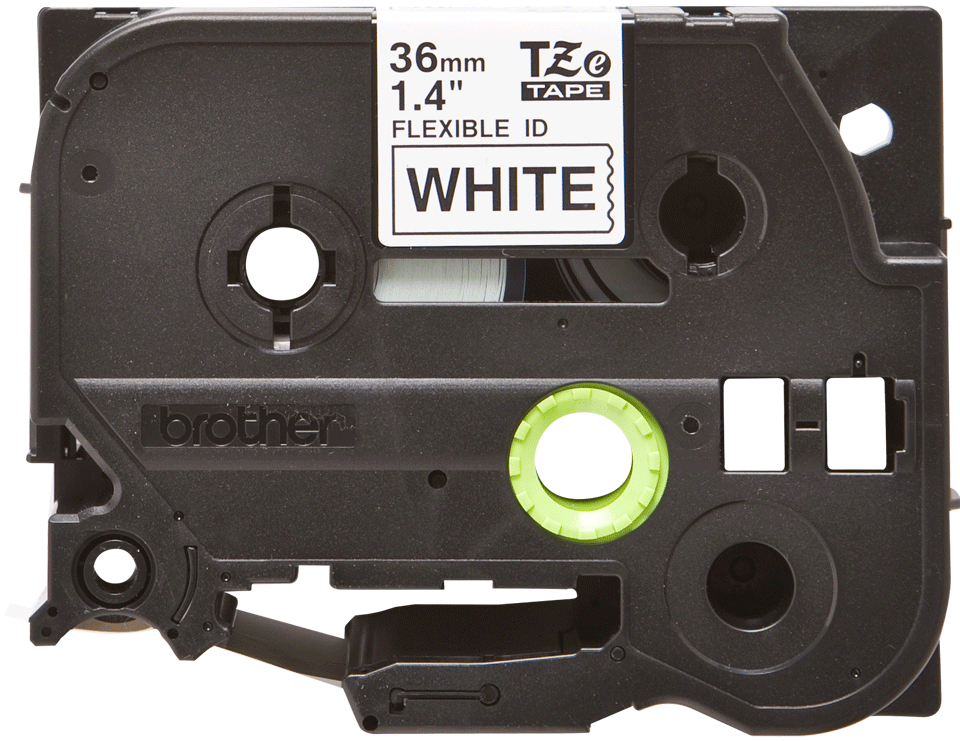 Genuine Brother TZe-FX261 Labelling Tape Cassette – Black on White Flexible-ID, 36mm wide