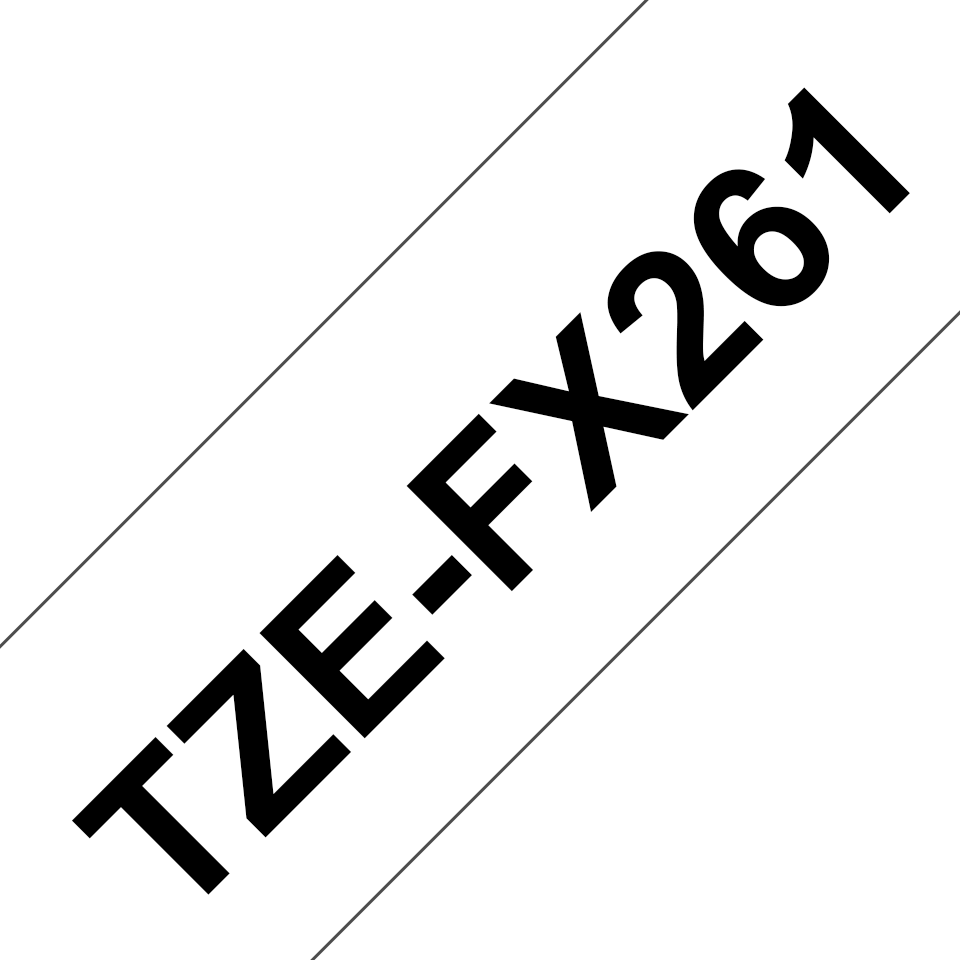 Genuine Brother TZe-FX261 Labelling Tape Cassette – Black on White Flexible-ID, 36mm wide 3