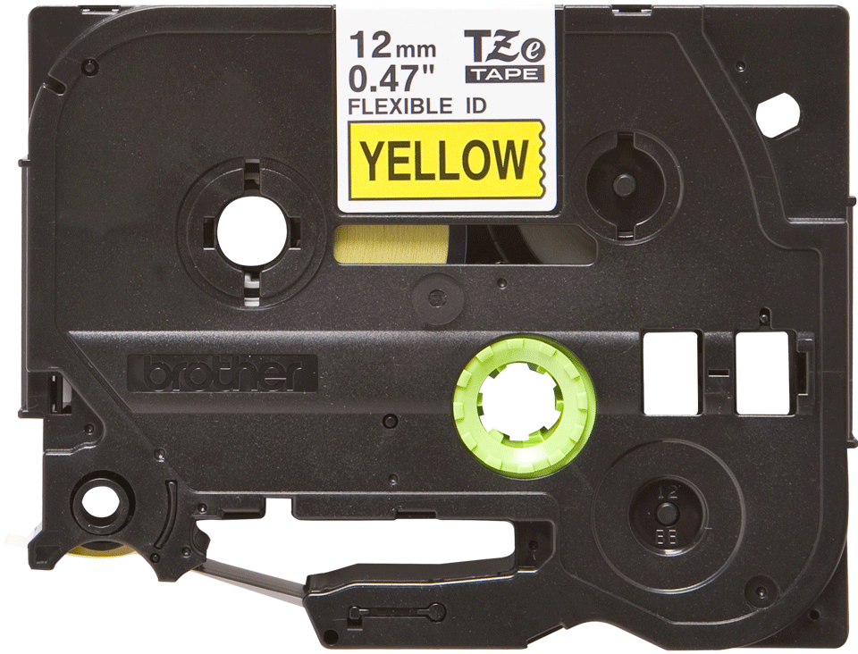 Genuine Brother TZe-FX631 Labelling Tape Cassette – Black on Yellow Flexible-ID, 12mm wide