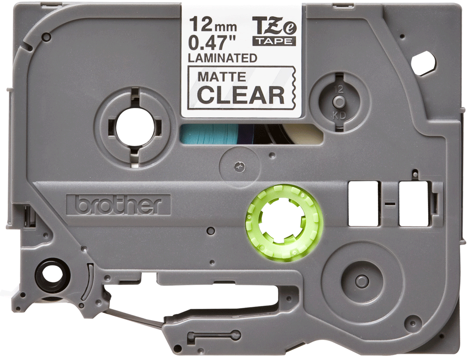Genuine Brother TZe-M31 Labelling Tape Cassette – Black on Clear Matte Tape, 12mm wide 2