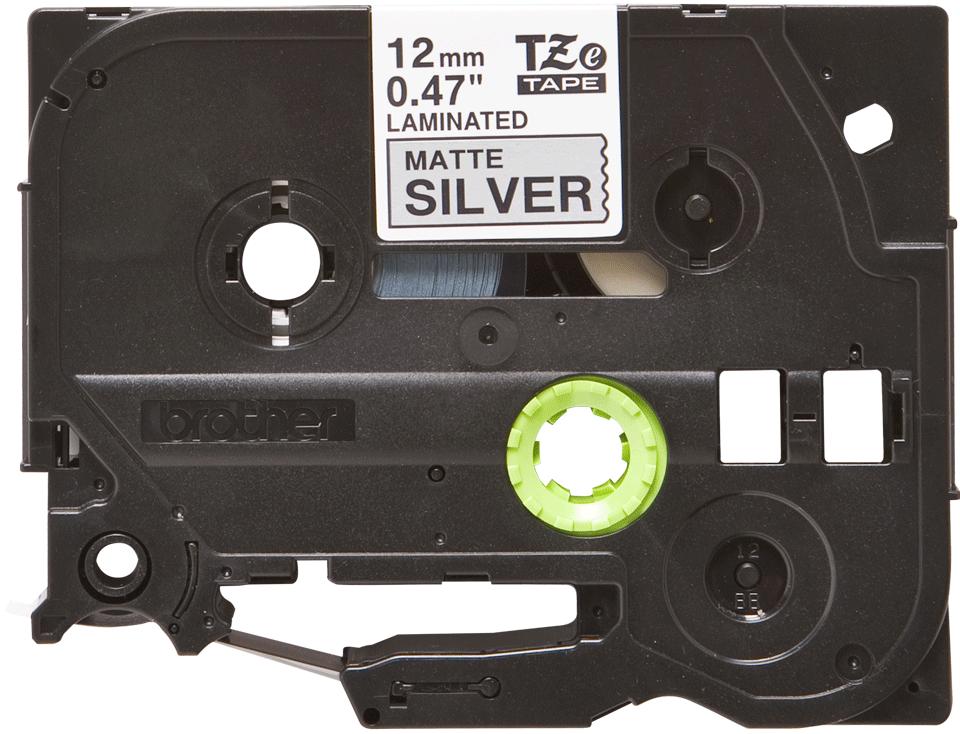 Genuine Brother TZe-M931 Labelling Tape Cassette – Black on Matte Silver, 12mm wide 2