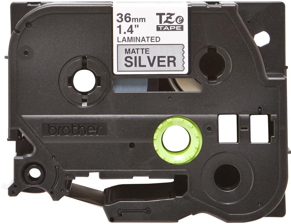 Genuine Brother TZe-M961 Labelling Tape Cassette – Black on Matt Silver, 36mm wide