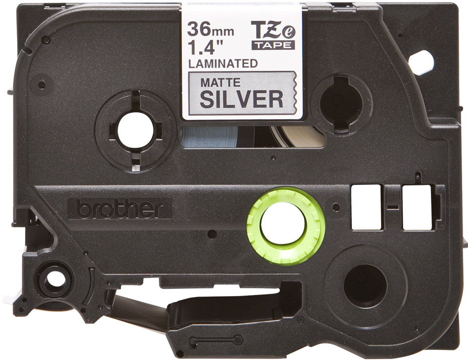 Genuine Brother TZe-M961 Labelling Tape Cassette – Black on Matte Silver, 36mm wide