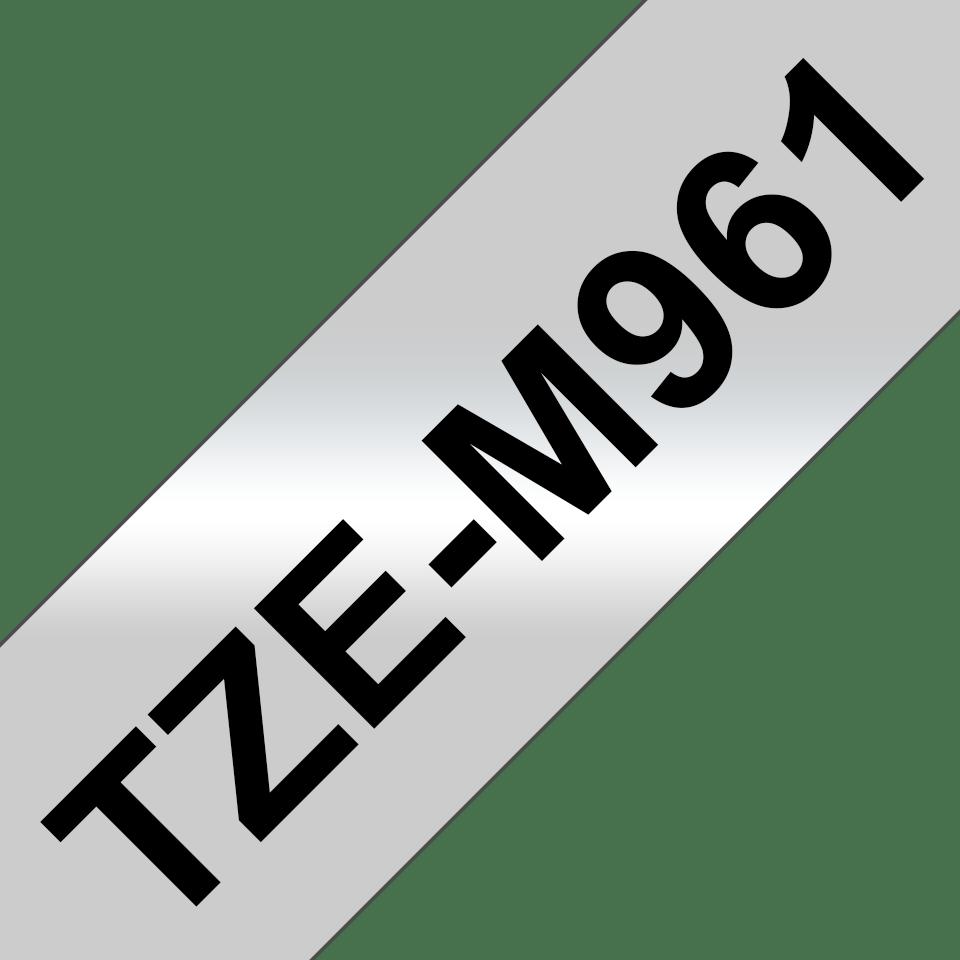 Genuine Brother TZe-M961 Labelling Tape Cassette – Black on Matte Silver, 36mm wide 3