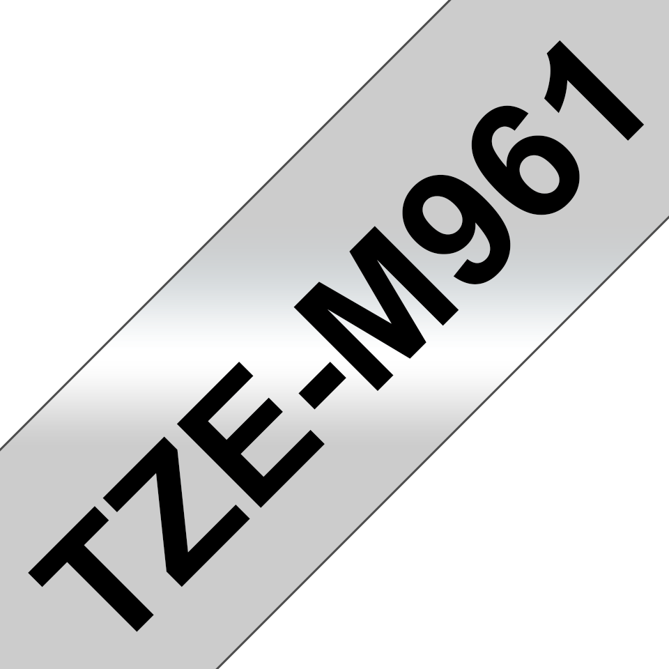 Genuine Brother TZe-M961 Labelling Tape Cassette – Black on Matte Silver, 36mm wide