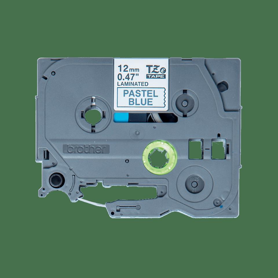 Genuine Brother TZe-MQ531 Labelling Tape Cassette – Black on Pastel Blue, 12mm wide 0
