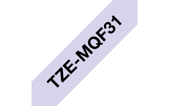 Genuine Brother TZe-MQF31 Labelling Tape Cassette – Black on Pastel Purple, 12mm wide