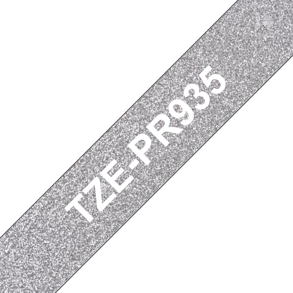 Genuine Brother TZe-PR935 Labelling Tape Cassette – White On Premium Silver, 12mm wide 3