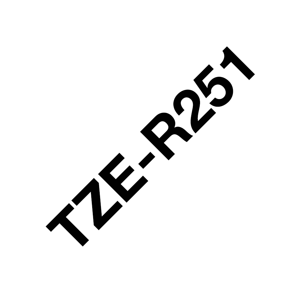 TZe-R251 24mm black on white TZe ribbon