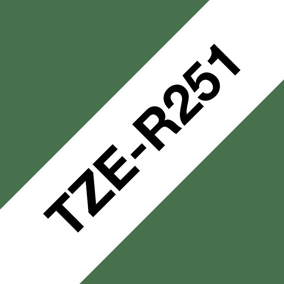 Genuine Brother TZe-R251 Ribbon Tape Cassette – Black on White, 24mm wide 3