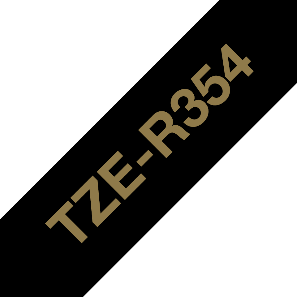 Genuine Brother TZe-R354 Ribbon Tape Cassette – Gold on Black, 24mm wide