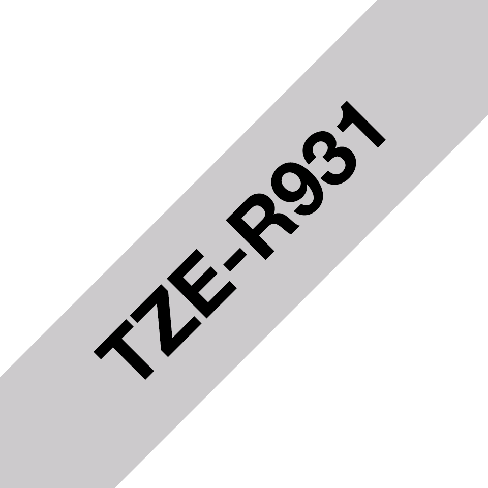 Genuine Brother TZe-R931 Ribbon Tape Cassette – Black on Silver, 12mm wide