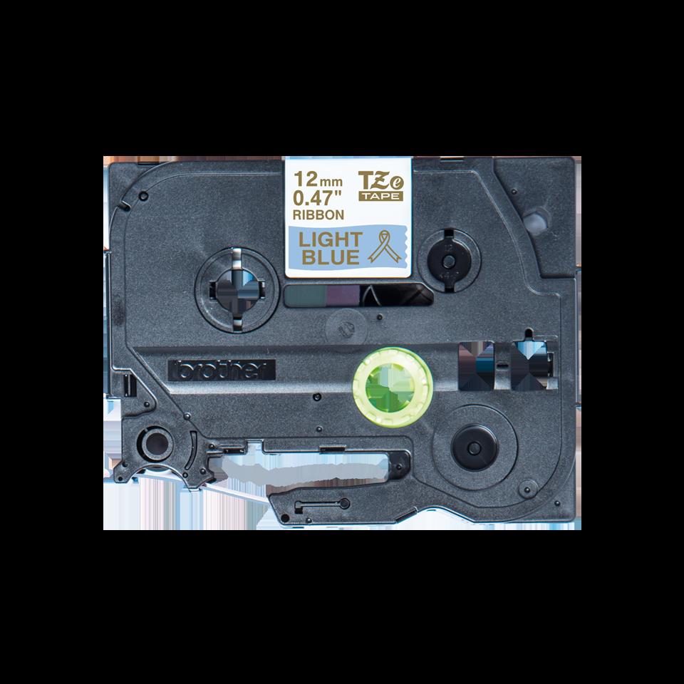 Genuine Brother TZe-RL34 Ribbon Tape Cassette – Gold on Light Blue, 12mm wide 2