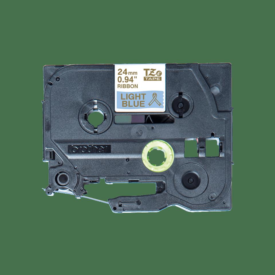 Genuine Brother TZe-RL54 Ribbon Tape Cassette – Gold on Light Blue, 24mm wide 2