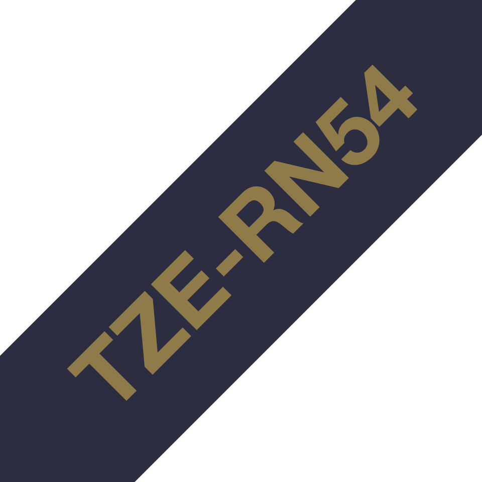 TZe-RN54 24mm gold on navy blue TZe ribbon