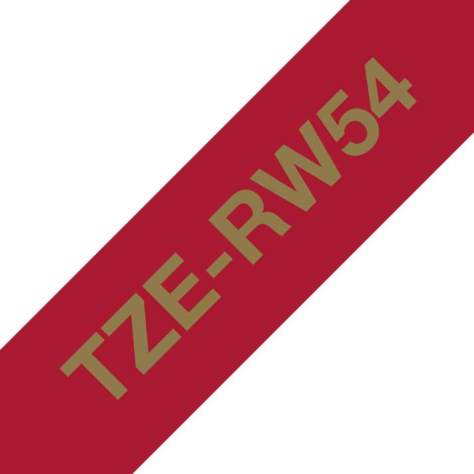 TZe-RW54 24mm gold on wine red TZe ribbon