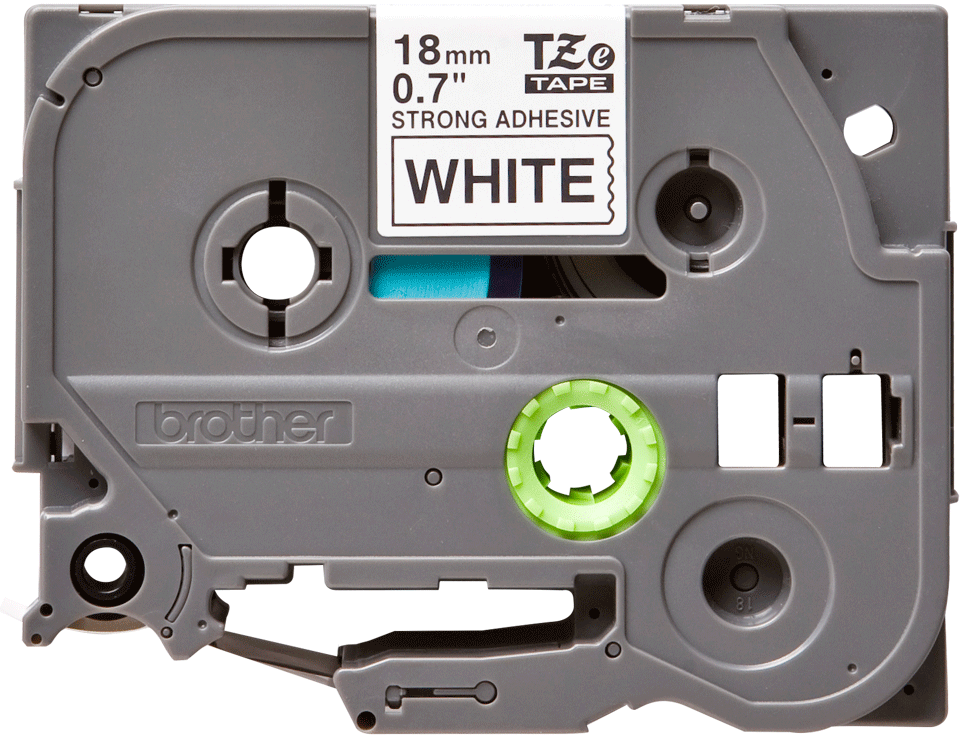 Genuine Brother TZe-S241 Labelling Tape Cassette – Black on White Strong Adhesive, 18mm wide
