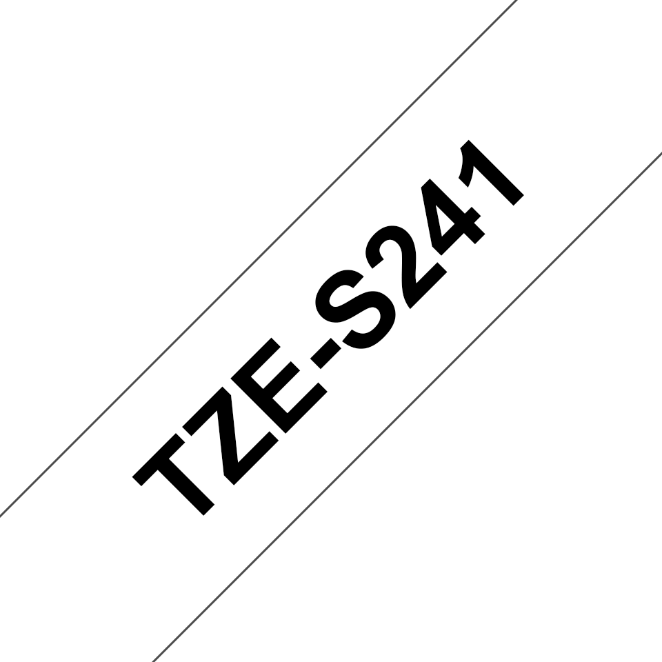 Genuine Brother TZe-S241 Labelling Tape Cassette – Black on White Strong Adhesive, 18mm wide 3