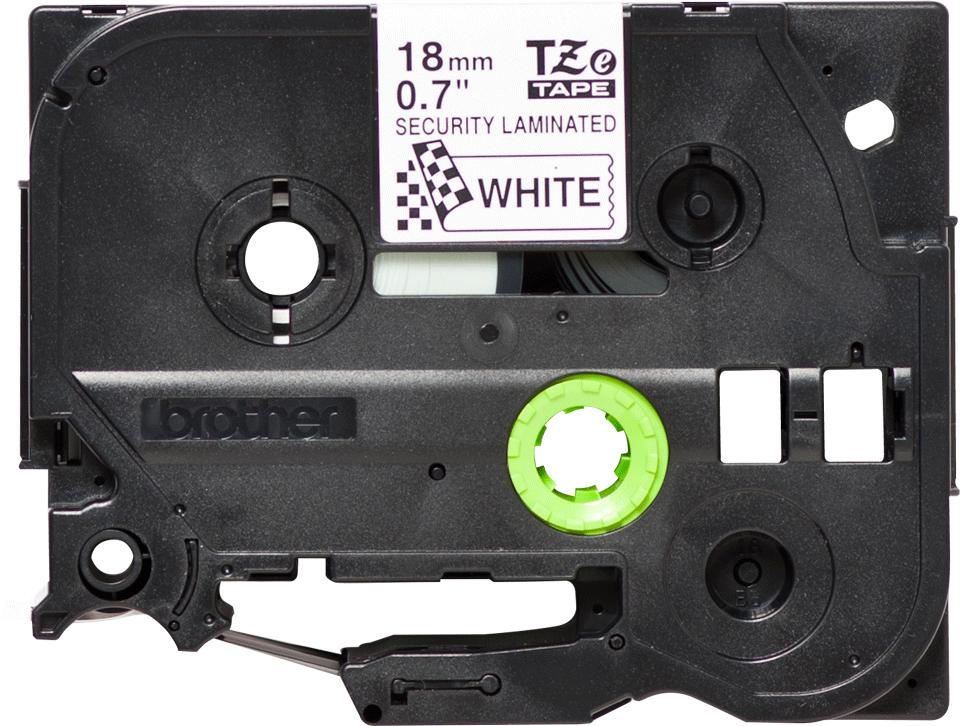 Genuine Brother TZe-SE4 Labelling Tape Cassette – Black on White, 18mm wide 2