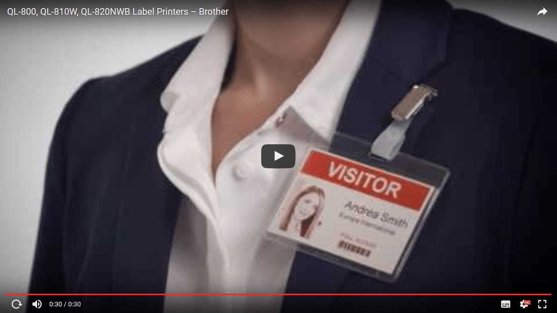 QL-820NWB Network Label Printer 7