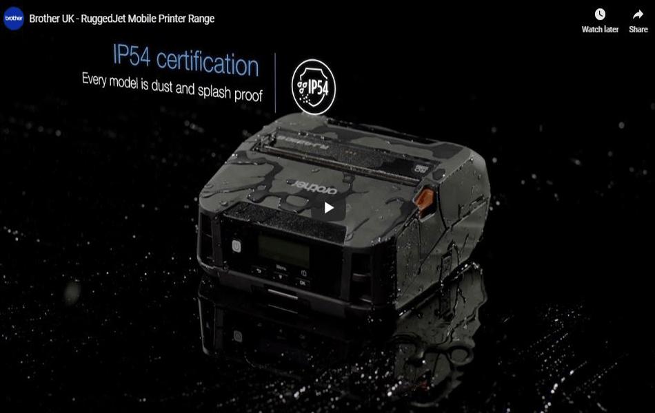 "RJ-4250WB Rugged 4"" Mobile Printer 7"