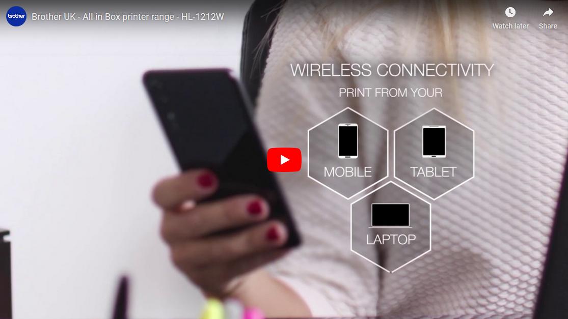 HL-1212W All in Box - Wireless mono laser printer 9
