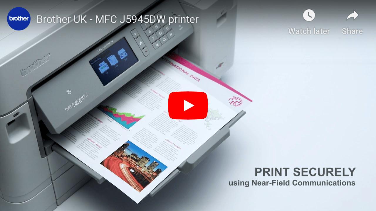 MFC-J5945DW Colour Wireless A3 Inkjet 4-in-1 Printer 7