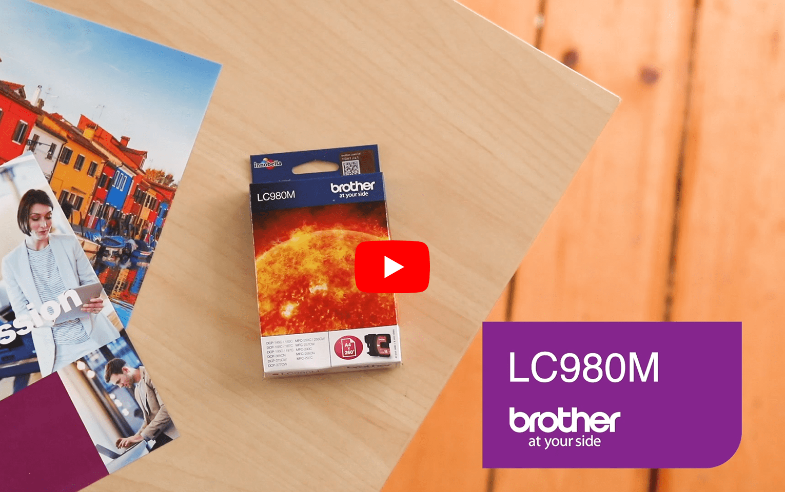 Genuine Brother LC980M Ink Cartridge – Magenta 5