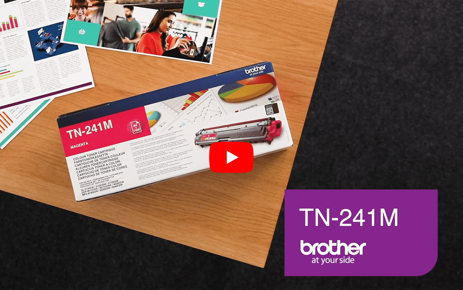 Genuine Brother TN-241M Toner Cartridge – Magenta 5