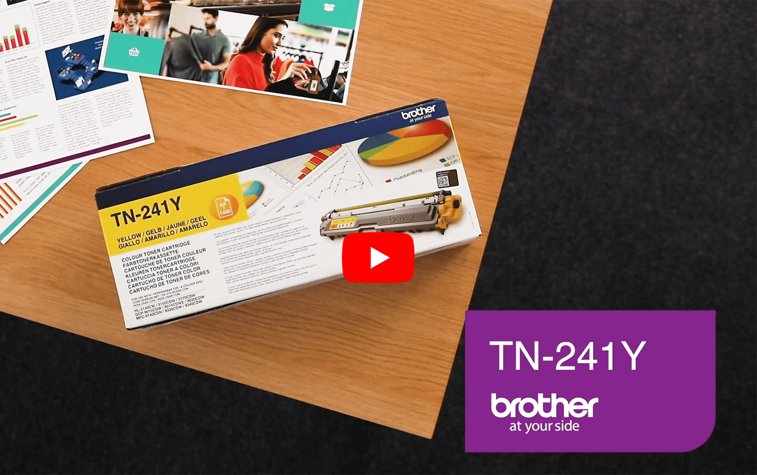 Genuine Brother TN-241Y Toner Cartridge – Yellow 5