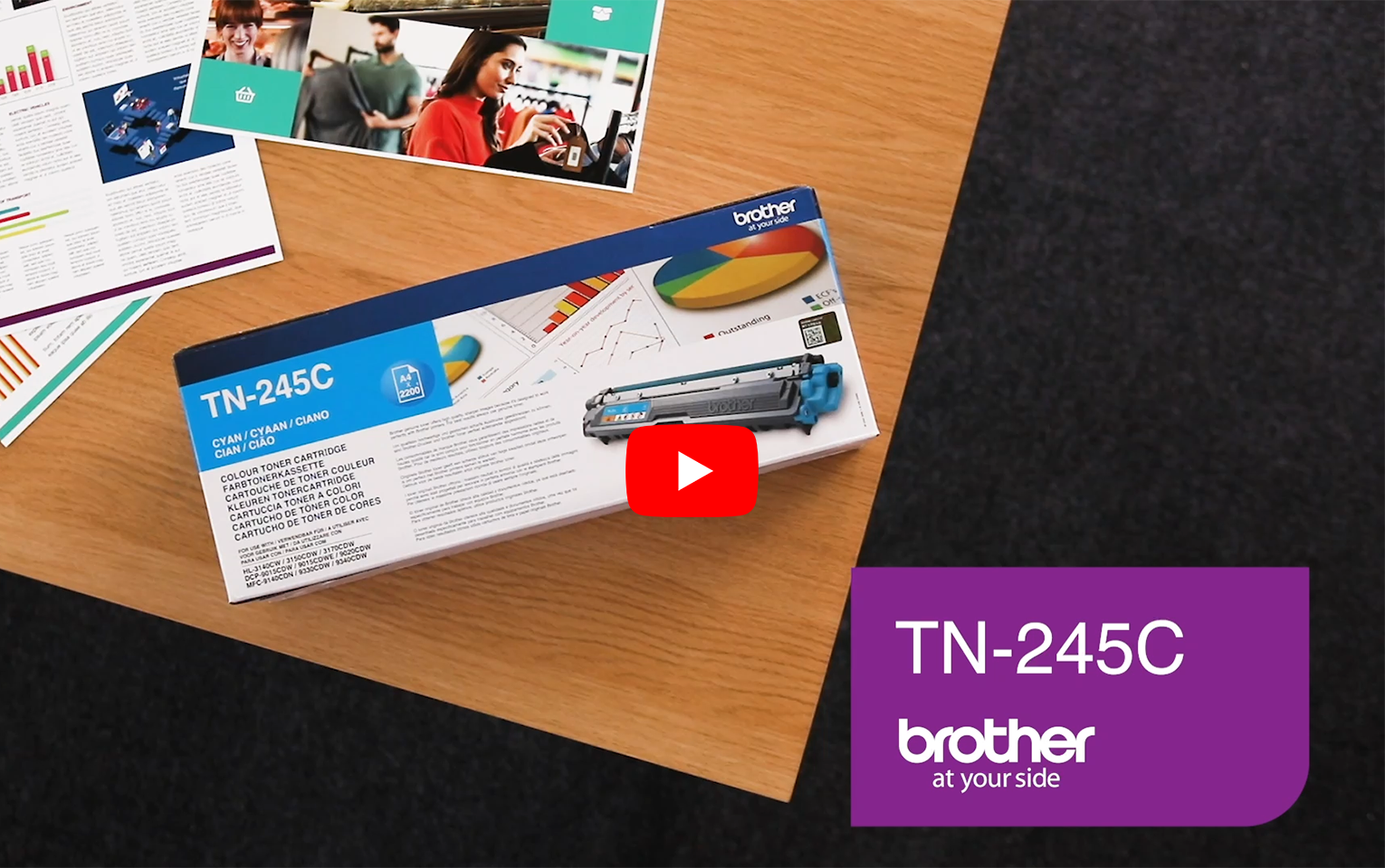 Genuine Brother TN245C Toner Cartridge – Cyan 3