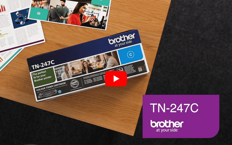 Genuine Brother TN-247C Toner Cartridge - Cyan 5